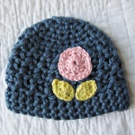 poppy hat blue